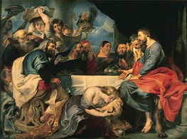 Feast in the House of Simon the Pharisee, c.1618/20 by Rubens | Painting Reproduction