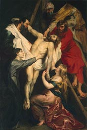 The Descent from the Cross, c.1617/18 von Rubens | Gemälde-Reproduktion