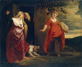 Hagar Leaves the House of Abraham, c.1615/17 von Rubens | Gemälde-Reproduktion