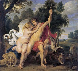 Venus and Adonis | Rubens | Painting Reproduction