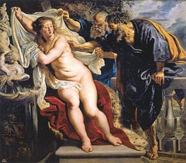 Susanna and the Elders, c.1609/10 von Rubens | Gemälde-Reproduktion