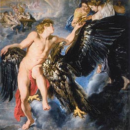 The Abduction of Ganymede, c.1611/12 von Rubens | Gemälde-Reproduktion