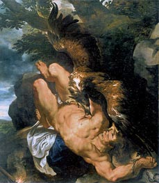 Prometheus Bound (Rubens and Snyders), c.1610/11 von Rubens | Gemälde-Reproduktion