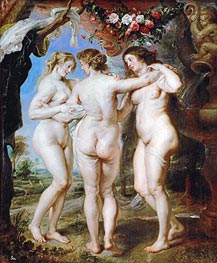 The Three Graces, 1639 von Rubens | Gemälde-Reproduktion