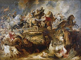 The Battle of the Amazons, 1618 von Rubens | Gemälde-Reproduktion