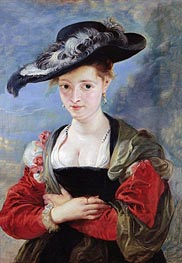 The Straw Hat (Portrait of Susanna Lunden), c.1625 von Rubens | Gemälde-Reproduktion