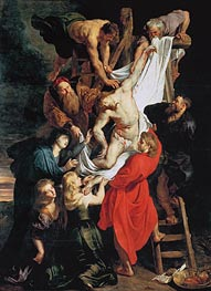 The Descent from the Cross, c.1611/14 von Rubens | Gemälde-Reproduktion