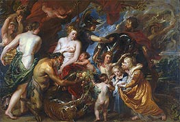 Minerva Protects Pax from Mars (Peace and War), c.1629/30 von Rubens | Gemälde-Reproduktion