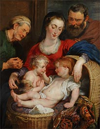 Madonna of the Basket (Holy Family), c.1615 von Rubens | Gemälde-Reproduktion