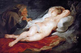 Angelica and the Hermit, c.1626/28 von Rubens | Gemälde-Reproduktion