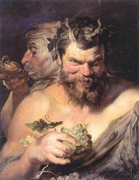 Two Satyrs, c.1618/19 by Rubens | Painting Reproduction