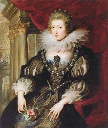 Portrait of Anne of Austria | Rubens | Painting Reproduction
