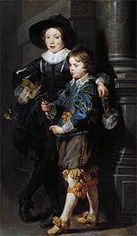 Double Portrait of Albert and Nikolaus Rubens | Rubens | Painting Reproduction