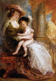 Helena Fourment with her Eldest Son, Frans | Rubens | Gemälde Reproduktion