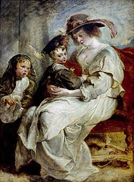 Helena Fourment with her Children, c.1636/37 by Rubens | Painting Reproduction