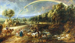 The Rainbow Landscape, c.1636/37 by Rubens | Painting Reproduction