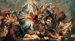 The Death of Decius Mus in Battle | Rubens | Gemälde Reproduktion