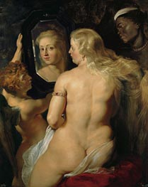 Venus in Front of the Mirror, c.1613/14 by Rubens | Painting Reproduction