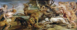 Diana's Hunt, 1628 by Rubens | Painting Reproduction