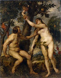 Adam and Eve (after Titian), c.1628/29 by Rubens | Painting Reproduction