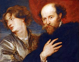 Double Portrait of van Dyck and Rubens | Rubens | Gemälde Reproduktion