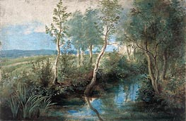 Landscape with Stream Overhung with Trees | Rubens | Painting Reproduction