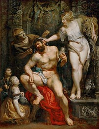 Hercules and Omphale, c.1602/05 by Rubens | Painting Reproduction