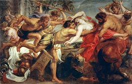 The Rape of Hippodame (Lapiths and Centaurs), c.1636/38 by Rubens | Painting Reproduction