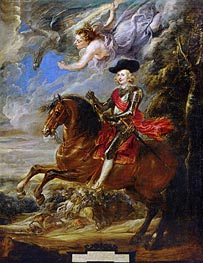 Cardinal-Infante Fernando de Austria at the Battle of Noerdlingen, c.1635/40 by Rubens | Painting Reproduction