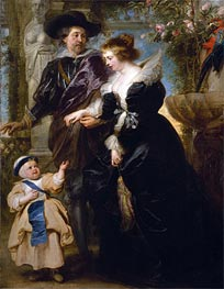 Rubens, His Wife Helena Fourment and One of Their Childrens the Infant Jesus to Saint Francis, c.1635/40 von Rubens | Gemälde-Reproduktion