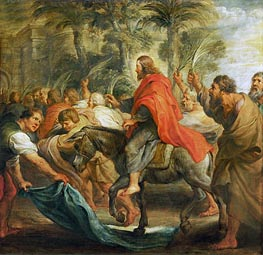 Christ's Entry into Jerusalem, 1632 von Rubens | Gemälde-Reproduktion