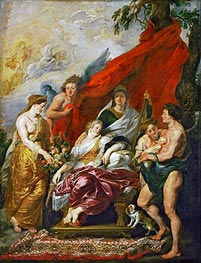 The Birth of Louis XIII at Fontainebleau, 27th September 1601 (The Medici Cycle), c.1621/25 von Rubens | Gemälde-Reproduktion