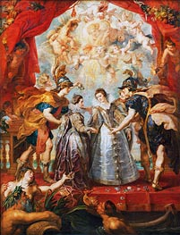 Exchange of the Two Princesses of France and Spain, 9th November 1615 (The Medici Cycle) | Rubens | Gemälde Reproduktion