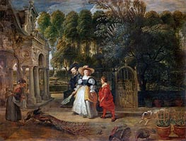 Rubens and His Wife Helene Fourment in the Garden, undated von Rubens | Gemälde-Reproduktion