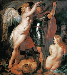 The Coronation of the Hero of Virtue | Rubens | Painting Reproduction