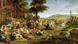 A Church Festival or Weding in a Village | Rubens | Painting Reproduction