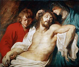 Lamentation with Saint Mary and Saint John | Rubens | Painting Reproduction