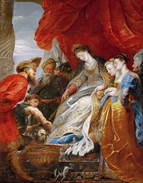 Thomiris, Queen of the Scyths, Orders the Head of Cyrus Lowered into a Vessel of Blood | Rubens | Gemälde Reproduktion