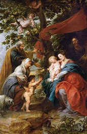 The Holy Family Resting under an Apple Tree (Ildefonso Altar) | Rubens | Painting Reproduction