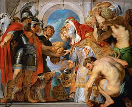 Abraham and Melchizedek | Rubens | Painting Reproduction