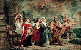 Lot and His Family Leaving Sodom | Rubens | Painting Reproduction