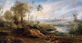 Landscape with Birdcatcher, undated von Rubens | Gemälde-Reproduktion