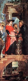 Visitation (Descent from Cross Altarpiece - Left Panel) | Rubens | Painting Reproduction