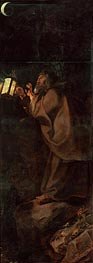 Hermit (Descent from Cross Altarpiece - Closed Right Side), c.1611/14 von Rubens | Gemälde-Reproduktion