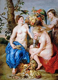 Ceres with Two Nymphs | Rubens | Gemälde Reproduktion