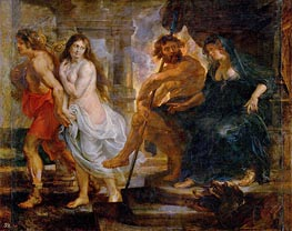 Orpheus and Euridice with Pluto and Proserpina, c.1636/38 by Rubens | Painting Reproduction