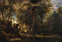 A Forest at Dawn with a Deer Hunt | Rubens | Painting Reproduction