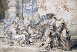 The Garden of Love (Right Part), undated by Rubens | Painting Reproduction