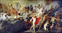 Council of the Gods, c.1622/25 by Rubens | Painting Reproduction