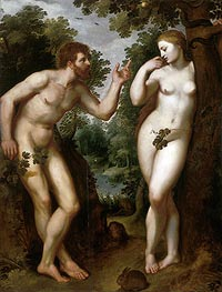 Adam and Eve, c.1599 von Rubens | Gemälde-Reproduktion